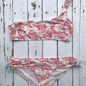 OndadeMar Koi Bikini Set with Asymmetrical Top